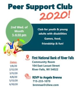 Peer Support Club 2020 @ First National Bank of River Falls | Fall River | Massachusetts | United States